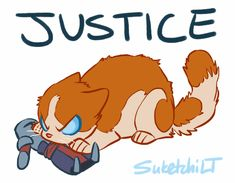 Justice-cat vs. templar :) I would like Justice if he was possessing a cat instead of Anders