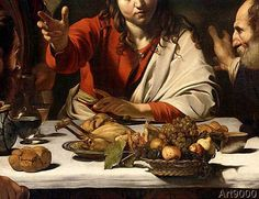 Michelangelo Merisi Caravaggio - Detail of The Supper at Emmaus, 1601