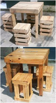 Use Pallet Wood Projects to Create Unique Home Decor Items – Hobby Is My Life Wooden Pallet Projects, Wood Pallet Furniture, Rustic Furniture, Wood Pallets, Diy Furniture, Furniture Stores, 1001 Pallets, Pallet Ideas, Table From Pallets