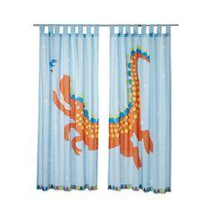 HELTOKIG Gordijn 2 st. IKEA Klaar om opgehangen te worden: met lussen aan de bovenkant en omgezoomde onderkant.