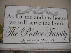Shabby Chic Religious Sign Family Sign by 2chicsthatbelieve, $44.95