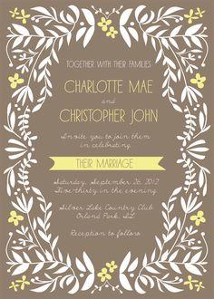 Charming Vines Wedding Invite