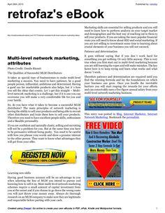 multi-level-networkmarketinghaveyougotwhatittakes by retrofaz via Slideshare