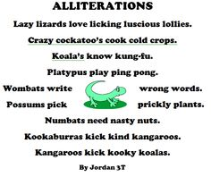 Alliteration Examples For Kids 2016World of Examples