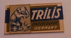 TRILIS Double Edge Safety RAZOR BLADE in Wrapper RBW Germany Elephant