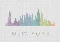 Cross Stitch Pattern New York City por ZGCROSSSTITCHPATTERN en Etsy