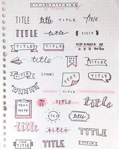 title/lettering ideas