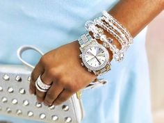 Time To Shine II Watch, Twilight Bracelet, Crystal Clear Bracelets (set of 3), Merry Go Round Ring, and Stud N' Chic Wristlet Wallet #TraciLynnJewelry