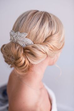 Jada Bridal Hair Piece Rhinestone Hair comb by StellasDesign, $68.00