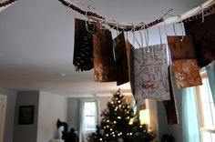 """""""Gratitudes"""" advent banner...make ours with fabric or paper?"""