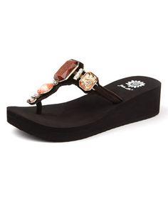 55c9cd9bf Brown Brandee Platform Sandal by Yellow Box Shoes