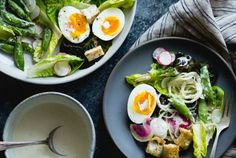 Spring Greens Salad with Fennel, Radish & Miso-Buttermilk Dressing {plus a day in Sonoma}