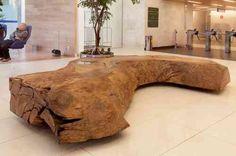 meubles en bois brut - banc original