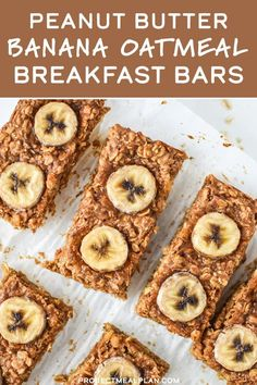 Recipes Snacks Quick These soft and chewy Peanut Butter Banana Oatmeal Breakfast Bars are perfect to make ahead and grab for a quick breakfast or snack! They're freezer-friendly, super easy to make and naturally sweetened with honey and bananas! Lunch Snacks, No Bake Snacks, Clean Eating Snacks, Oatmeal Breakfast Bars, Make Ahead Breakfast, Healthy Breakfast Recipes, Healthy Food, Recipes With Bananas Healthy, Healthy Gluten Free Snacks