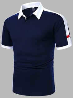 Contrast Collar, Color Blocking, Shirt Designs, Polo Ralph Lauren, Sewing, Men Shirts, Polo Shirts, Fitness, Mens Tops