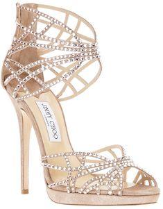 d25d8c7d1192 JIMMY CHOO Diva Sandal Pump - Lyst White Strappy Heels