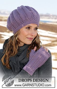 "free pattern. Ravelry: 115-12 b - Fingerless gloves with lace pattern in ""Merino Extra Fine"" pattern by DROPS design"