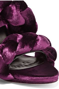 Marco De Vincenzo - Braided Velvet Sandals - Grape - IT37.5