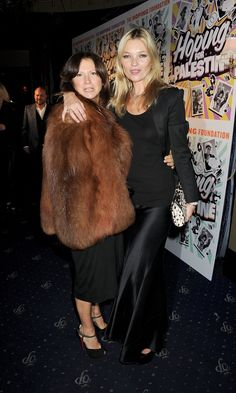 Kate Moss posing with a friend. Kate Moss Style, Event Pictures, Boy George, About Uk, Movie Tv, Photo Galleries, Fur Coat, Hollywood, Celebrities
