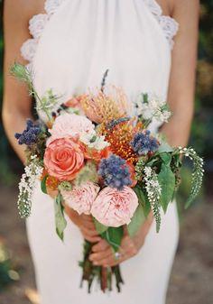 romantic bridal bouquet | photo by Michael Radford | 100 Layer Cake