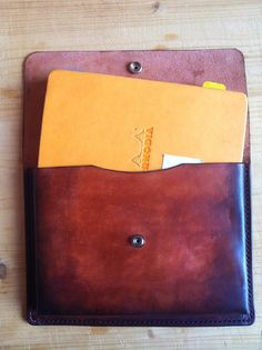 "Executive Notebook Sketchbook Case for Rhodia or Moleskine ""Hugo"" Model. Also for watercolors, pens, pencil, signatures."