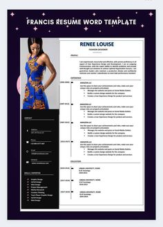 Cv Resume Template, Resume Format, Resume Cv, Resume Design, Cv Words, Resume Words, Resume Review, Fashion Resume, Cv Design