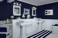 Boys bath  Sophisticated Nautical | The Cottage Company | Harbor Springs, Michigan | Home Builders & Interior Designers