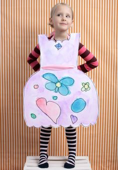 Paper Doll Costumes-Birthday Party! Have various shaped dress cut outs, loads of markers, glitter, glue, ribbons. It's endless fun.