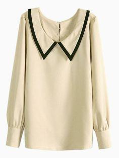 Vintage Wide Point Collar Shirt | Choies