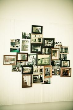 Cluster of frames on a wall @ Hotel Wiesler #frames #wall
