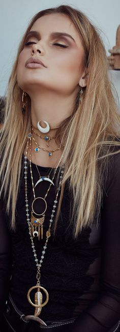 Bohemian style jewelry  #weloveboho#boho#bohemian#gypsy#freespirit#fashion#moda#jewelry