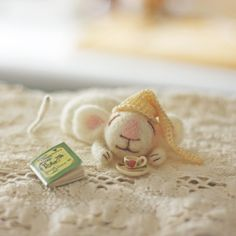 Adorable sleepy mouse