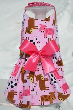 Pink Cow Harness Dog Dress by KOCouture on Etsy
