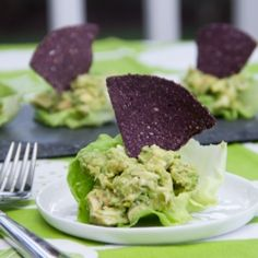 A guiltless guacamole dish! Guacamole Chicken Salad Lettuce Wraps are healthy, quick, and easy to prepare.