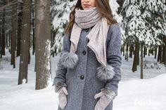 Gris Rose, Dame, Fur Coat, Jackets, Fashion, Headscarves, Tricot, Down Jackets, Moda
