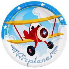 Airplane Adventure Dinner Plates (8)