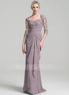 Trumpet/Mermaid Sweetheart Floor-Length Chiffon Mother of the Bride Dress With Ruffle Cascading Ruffles (008091950) - JJsHouse