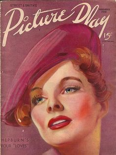 Picture Play magazine featuring Katherine Hepburn, November 1936.
