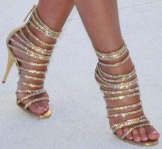 gold heel sandals