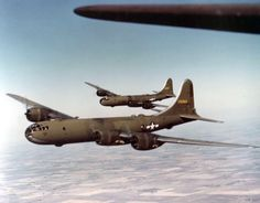 Olive-drab painted B-29 Superfortress