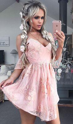cute pink short homecoming dresses, cold shoulder short party dresses, fashion lace formal dresses