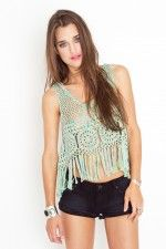 Nasty gal- Candy crochet top