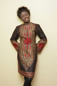 A Beautiful Dashiki Dress with long bell sleeves Reserved African Print Dresses, African Print Fashion, African Wear, African Fashion Dresses, Mode Wax, Dashiki Dress, Africa Dress, Afro Style, Cool Outfits