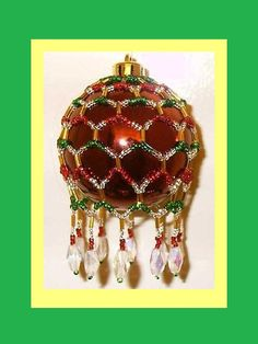 Victorian Inspired Beaded Christmas Ornament Cover Pattern
