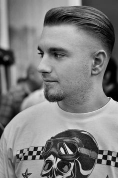 sleek and fade hairstyle