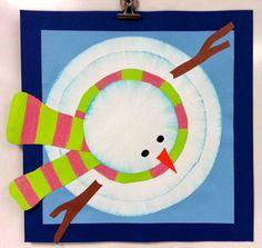 Art with Ms. Gram: Bird's-Eye-View Snowmen use with snowman snapshots as an alternative view