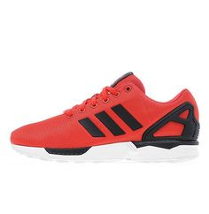 check out 60756 8d1f5 Adidas Originals Men   Women ZX Flux Poppy   Black   White Trainers Low  newly products,safe and comfortable,waterproof and skid.