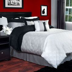Lavish Home Emma 7 Piece Comforter Set Size: Queen