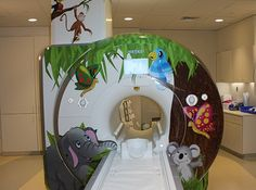 Jungle-themed MRI, part of the GE Adventure Series, at Johns Hopkins Children's Center