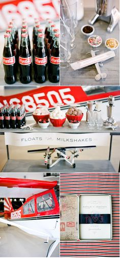 milkshakes and coke floats